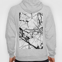 Dusty White Marble - Textured Black And White Hoody