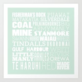 Hibiscus Coast - Version One Art Print
