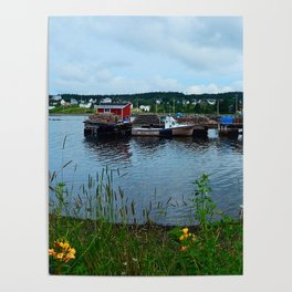 Fisherman's Wharf in Cape Breton Poster