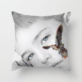 phoenix rises Throw Pillow