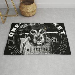 Punk Dog's Life (one-way ticket) Rug