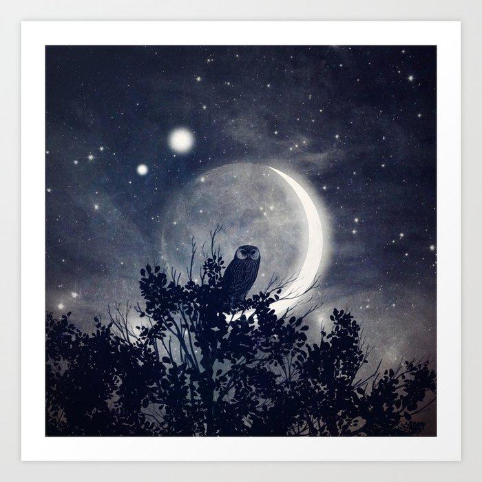 A Night With Venus and Jupiter Art Print