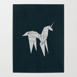 Blade R. Unicorn, Origami Artwork for Wall Art, Prints, Posters, Tshirts, Women, Men, Kids Poster