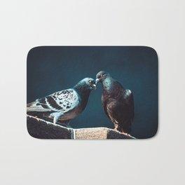 Pigeon Kiss. Just A Peck. Photograph Bath Mat