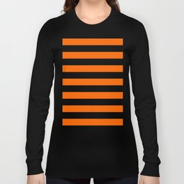 Orange Stripes Long Sleeve T-shirt