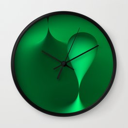 the color green Wall Clock