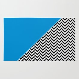 Chevron and Blue Rug