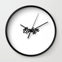 Evelyn Custom Text Birthday Name Wall Clock