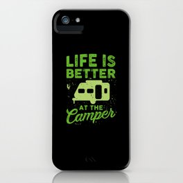 Funny Camping iPhone Case