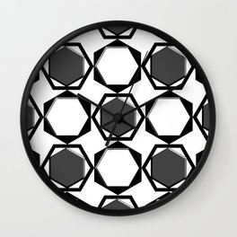 Monochrome Fantasy V Wall Clock