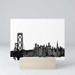 San Francisco Skyline Mini Art Print