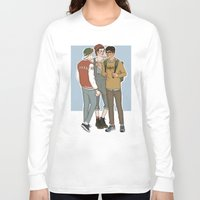 college Long Sleeve T-shirts featuring College AU Zarriall by vulcains