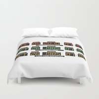 delorean Duvet Covers featuring Back to the future Delorean board by Komrod