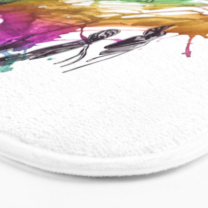Follow the Colors Bath Mat