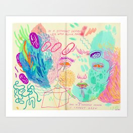 in a different universe Art Print
