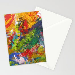 """""""Sherwood Forest"""" Abstract Acrylic Painting by Noora Elkoussy Stationery Cards"""