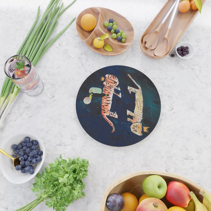 Tiger, Cheetah, Toucan Painting Cutting Board
