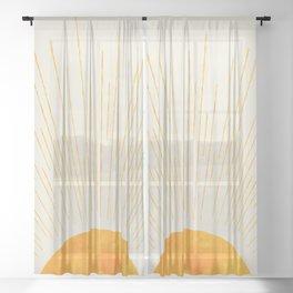 Boho Sunrise  Sheer Curtain