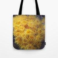 coral Tote Bags featuring Coral by Deborah Janke