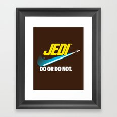Brand Wars: Jedi - blue lightsaber Framed Art Print