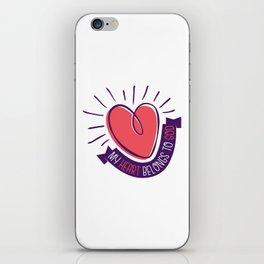 My Heart Belongs to God iPhone Skin