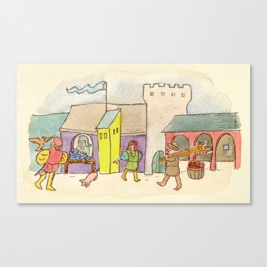 A Day at the Market Canvas Print