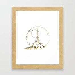 Golden Paris . Eiffel tower . Art Framed Art Print