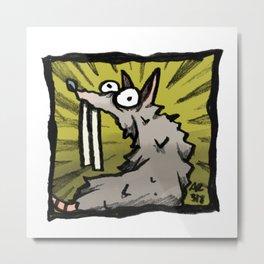 Abnormal Rat Metal Print
