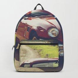 Triumph Spitfire, classic British sportscar, English Auto fine art print, old car Backpack