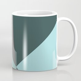 Broken Glass, blue, abstract graphic Coffee Mug