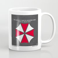resident evil Mugs featuring No119 My RESIDENT EVIL minimal movie poster by Chungkong