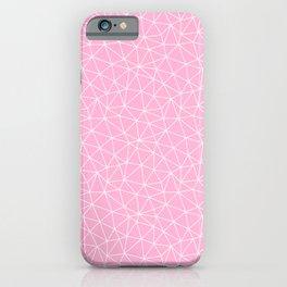 Rose Quartz Triangles iPhone Case