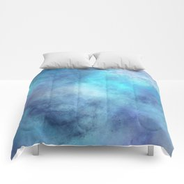 cosmic blue abstract Comforters