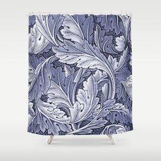 Acanthus Nouveau Style in Blue Shower Curtain