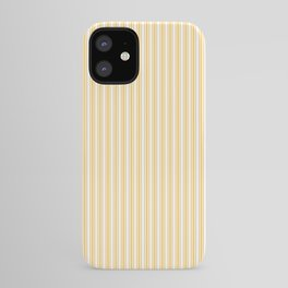 Classic Small Yellow Butter French Mattress Ticking Double Stripes iPhone Case