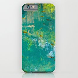 Clear Blue Water iPhone Case