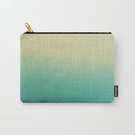 Modern turquoise lime green ombre color block pattern Carry-All Pouch