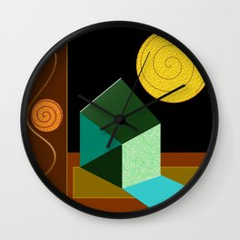 Modern Geometric Textured Abstract Wall Clock