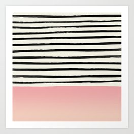 Blush x Stripes Art Print