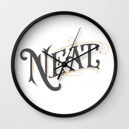 Neat Handlettering Design Wall Clock