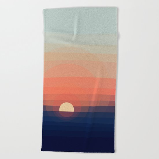 Colors Sunset Beach Towel