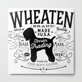 Wheaten Trading Co. dog art Metal Print