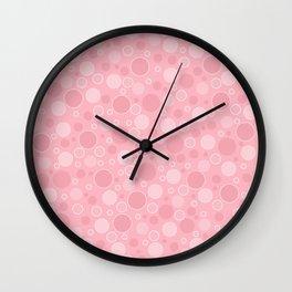 Pink gentle retro Wall Clock