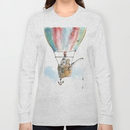 """""""Brothers in Paws"""" (2 Dogs, 1 balloon, 1000 clouds) Long Sleeve T-shirt"""