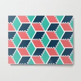 colorful pattern background with rhombus and cubes Metal Print