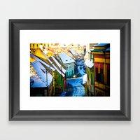 Street Scene in Sibiu, Romania Framed Art Print