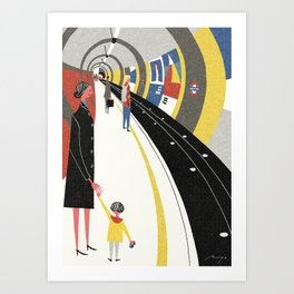 Tube, London Art Print