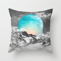 text Throw Pillows featuring It Seemed To Chase the Darkness Away by soaring anchor designs