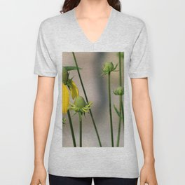 Mexican Hat Wildflowers in Horicon Marsh Unisex V-Neck