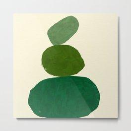 Green balance Metal Print